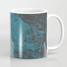 Guadalajara map blue Coffee Mug