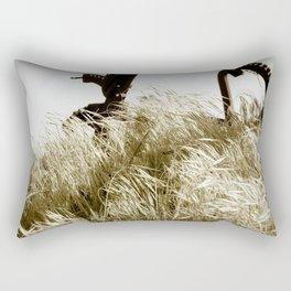 Tall Grass in the Wind Rectangular Pillow