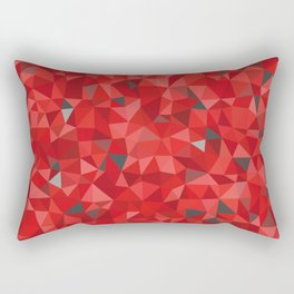 Red and gray triangular pattern - triangles mosaic Rectangular Pillow