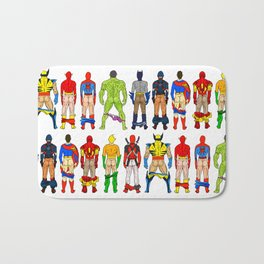 Superhero Butts Bath Mat