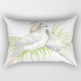 Two Turtledoves Rectangular Pillow
