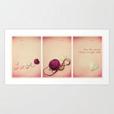 More than kisses Art Print