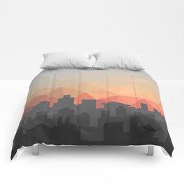 Sunset Cityscape Comforters