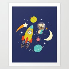 Space Critters Art Print