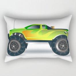 Monster Truck Toy Design Rectangular Pillow