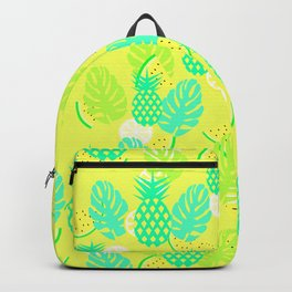 Watermelons and pineapples in yellow Backpack