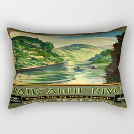 Vintage poster - Wanganui River Rectangular Pillow