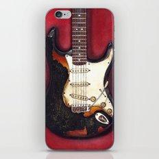 Burnt guitar iPhone & iPod Skin