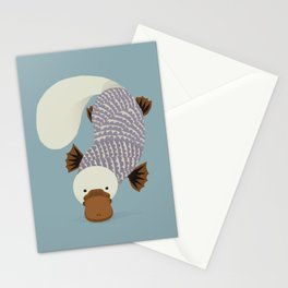 Whimsical Platypus Stationery Cards