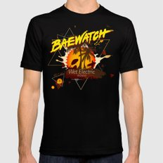 Baewatch - Wet Electric MEDIUM Mens Fitted Tee Black