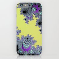 Asymmetrical Fractal in Yellow, Black and Purple iPhone 6s Slim Case