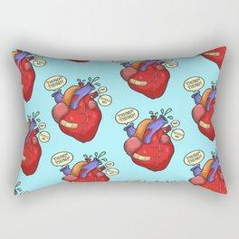 Heart thump-thump Rectangular Pillow