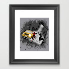 Hailing A High Five Framed Art Print