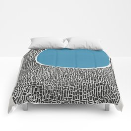 Abstract Blue Lake Comforters