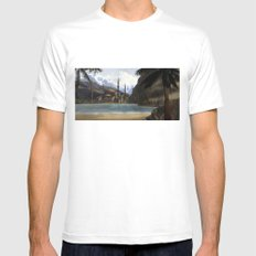 Hidden in the Mountains MEDIUM White Mens Fitted Tee