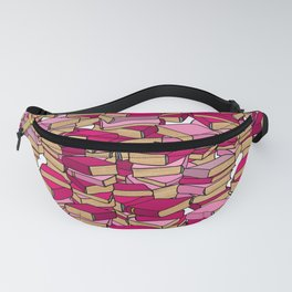 Book Collection in Pink Fanny Pack