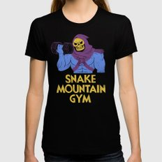 snake mountain gym Black LARGE Womens Fitted Tee
