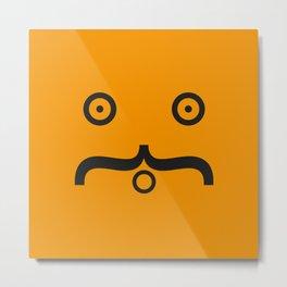 Moustache Metal Print