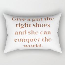 Rose gold shoe love Rectangular Pillow