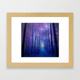 Fantasy Path Purple Blue Framed Art Print