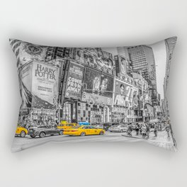 Yellow Taxi's Times Square Rectangular Pillow