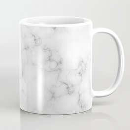 The Perfect Classic White with Grey Veins Marble Coffee Mug