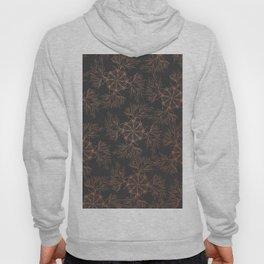 Elegant black rose gold floral mandala pattern Hoody