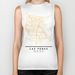 LAS VEGAS NEVADA CITY STREET MAP ART Biker Tank