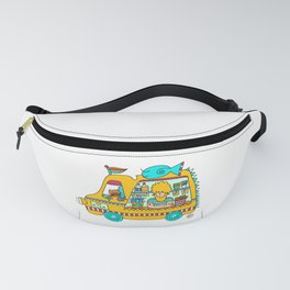 fish and chips food truck cool dude Fanny Pack