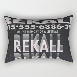 Rekall ( Total Recall ) Vintage magazine commercial. Rectangular Pillow