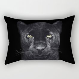 Panther on black Rectangular Pillow