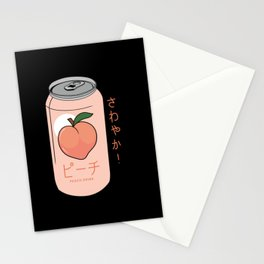 Peach Drink Peach Ginger Ale Aesthetic Stationery Cards