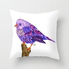 Flowerly Serene Sophia. Ultraviolet Edition.  Throw Pillow