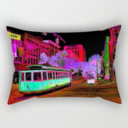 Trolly Night on Main Rectangular Pillow