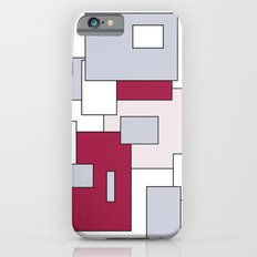 Squares - gray, purple, gray and white. iPhone 6s Slim Case