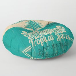 Hala Kahiki Juice Stand wooden board. Floor Pillow