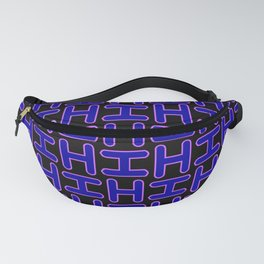 Color Solid Fill Style Hi Pattern Alphabet Lettering Fanny Pack
