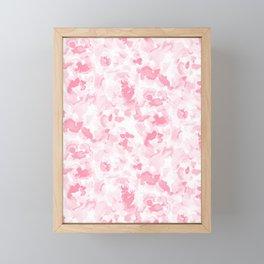 Abstract Flora Millennial Pink Framed Mini Art Print