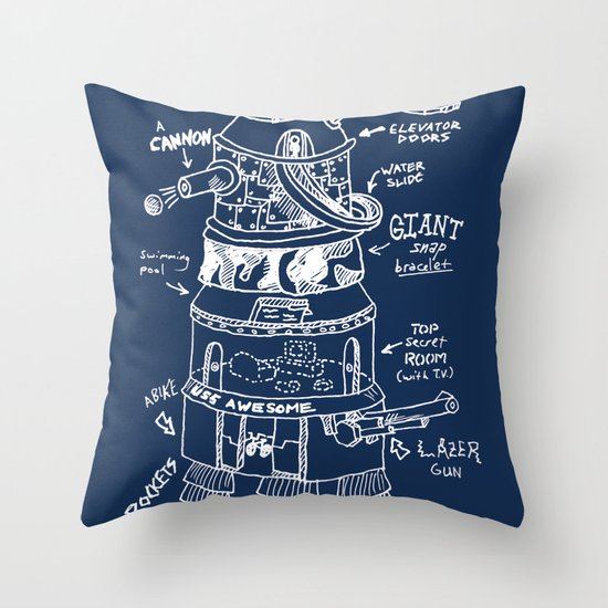 U.S.S. Awesome Throw Pillow