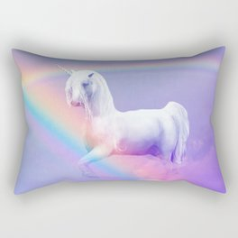 Unicorn and Rainbow Rectangular Pillow