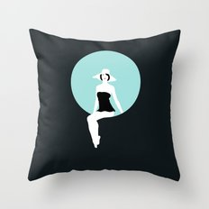 Girl #5 Throw Pillow