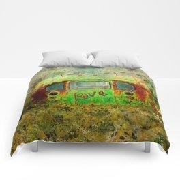 LOVE BUS Comforters