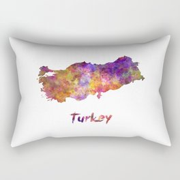 Turkey in watercolor Rectangular Pillow