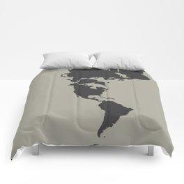 Dymaxion Map - Greys Comforters