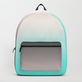 Turquoise gray Ombre Backpack