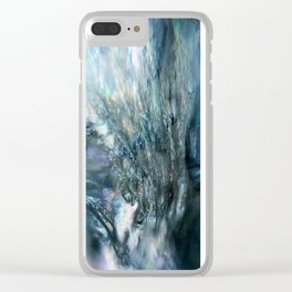 Sea Dog Abstract Clear iPhone Case
