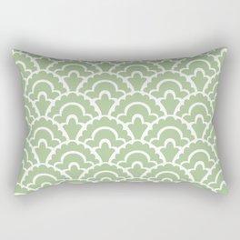 Fan Pattern Nile Green 113 Rectangular Pillow