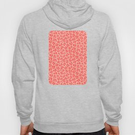 Leopard - Living Coral Hoody