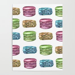 Colorful Macaroon Variety Poster