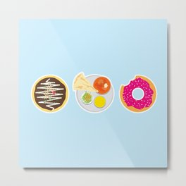 3 Food Staples Metal Print